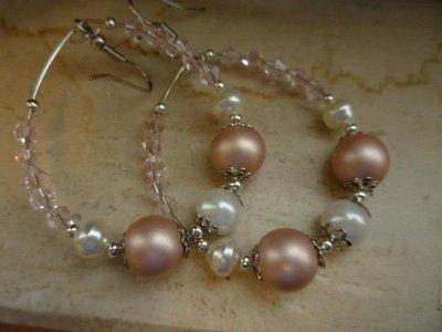orecchini con cristalli rosa