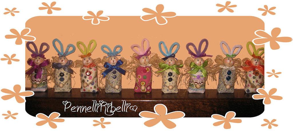 Coniglietti fermacarte/bomboniera