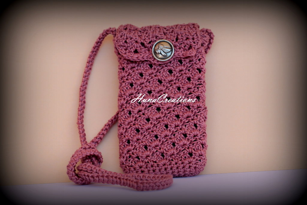 portacellulare rosa antico