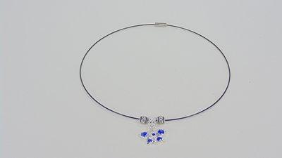 collana con charm argento