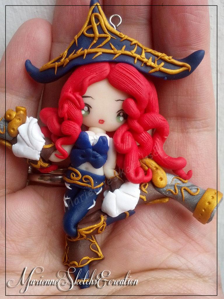 Ciondolo Hand Made Miss Fortune League of Legends Fanart Kawaii