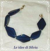 Bracciale in agata blu