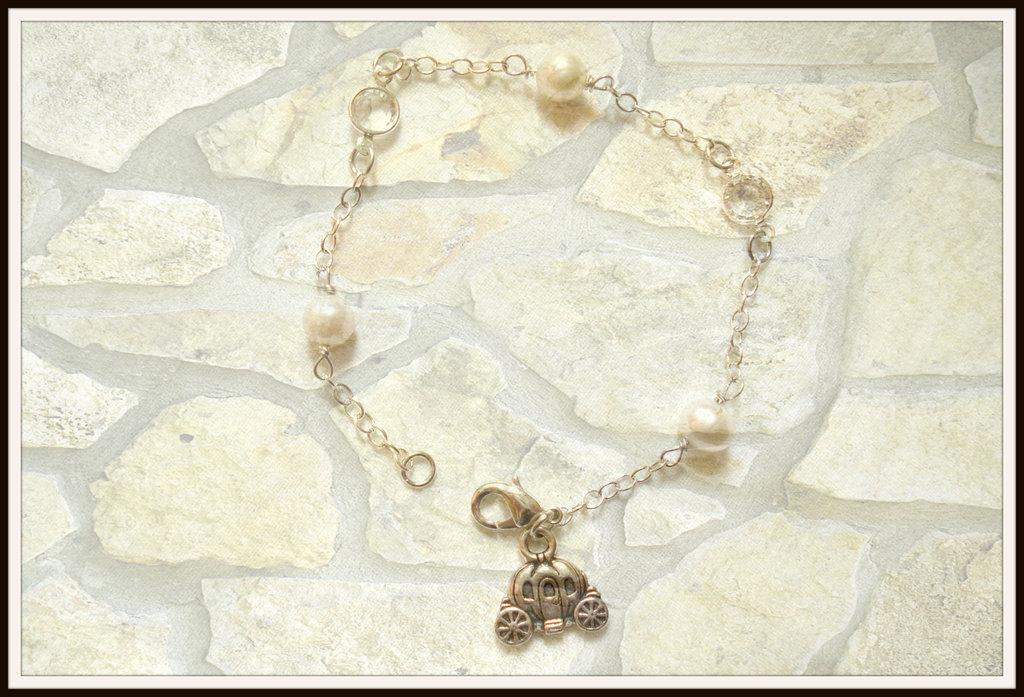 Bracciale in perle e swarovski