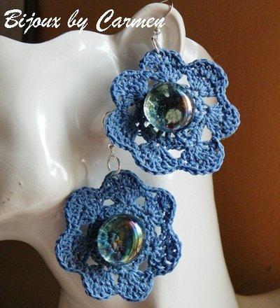 orecchi fiore bluette