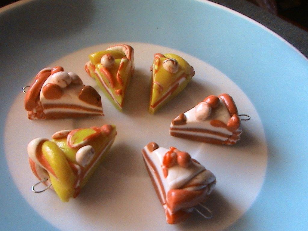 set di fette di torta