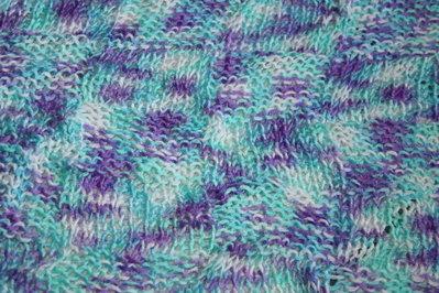 copertina neonato viola/azzurro