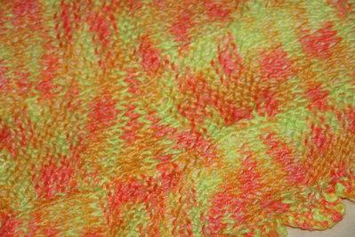 copertina neonato giallo / arancione / rosa