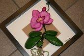 Quadro con orchidea