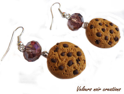 orecchini cookies biscotti in fimo