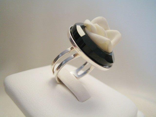 """Cosmic Ring & Rose"" - Anello in cristallo Swarovski"