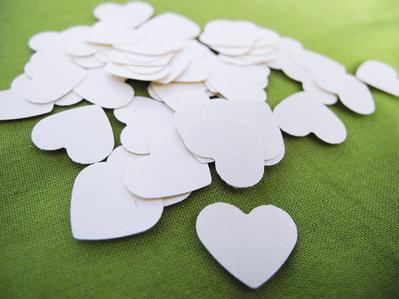 200 Coriandoli Cuore Avorio Perlato, Matrimonio, Decorazioni, Scrapbooking