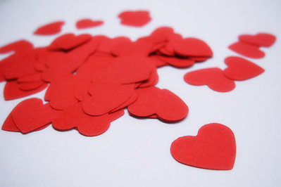 200 Coriandoli Cuore Rosso, Bianco, Mix - Lancio Matrimonio, Scrapbooking