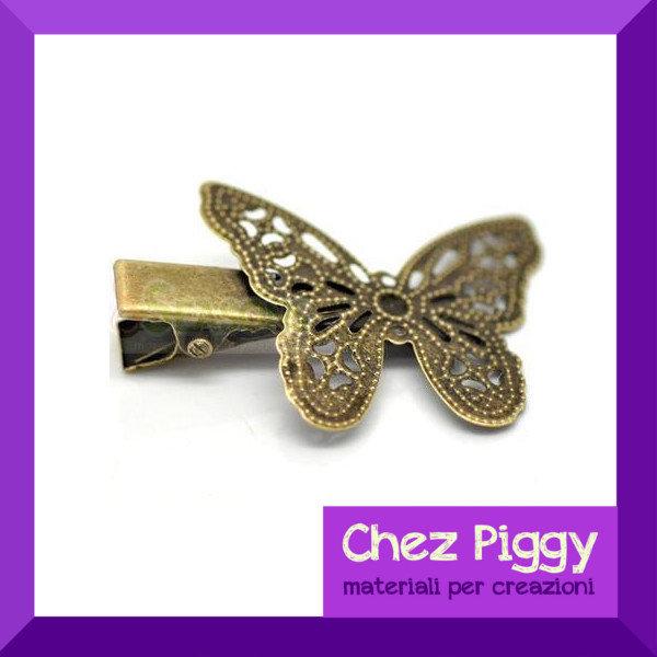 1 x clip pinzetta per capelli Farfalla