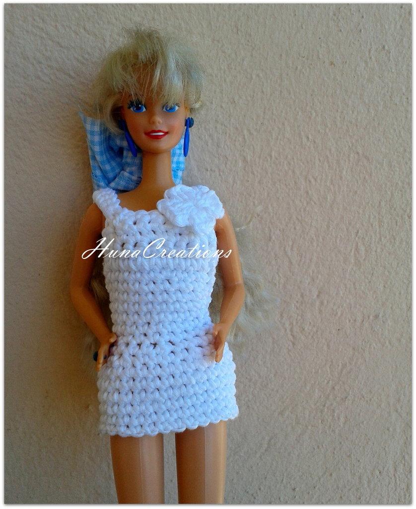 Abito Barbie modello Bianca