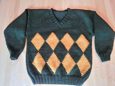 Maglione verde bimbo 8-9 anni
