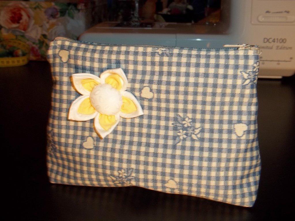 Pochette da borsa in cotone fatta a mano