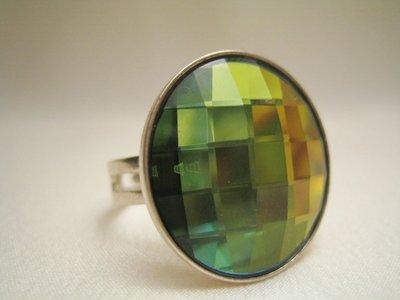"""""""Bottone Sahara"""" - Anello in cristallo Swarovski ed argento 925"""