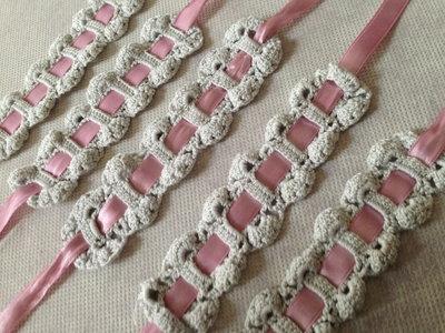 Set sei portatovaglioli porta tovaglioli (mod. 1) fatti a mano all'uncinetto in cotone