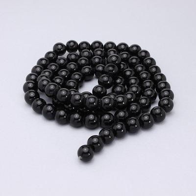 filo perle in vetro 10mm nere