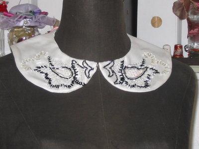 colletto-collana elegante bianco e nero