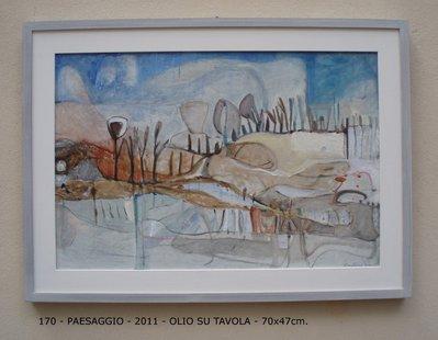 Paesaggio - olio su tavola - 70x47cm.