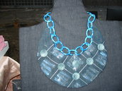 collana-colletto in jeans dipinta