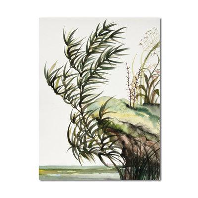 Acquerello originale: paesaggio lacustre