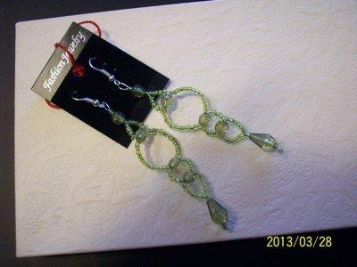 orecchini in perline verde acqua