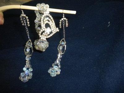 Set bracciale ed orecchini in puro swarovski di boemia
