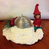 portacandela con elfo