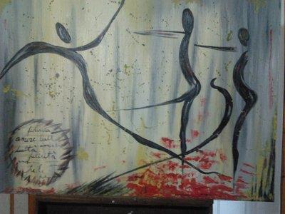 quadro astrato ad olio su tela