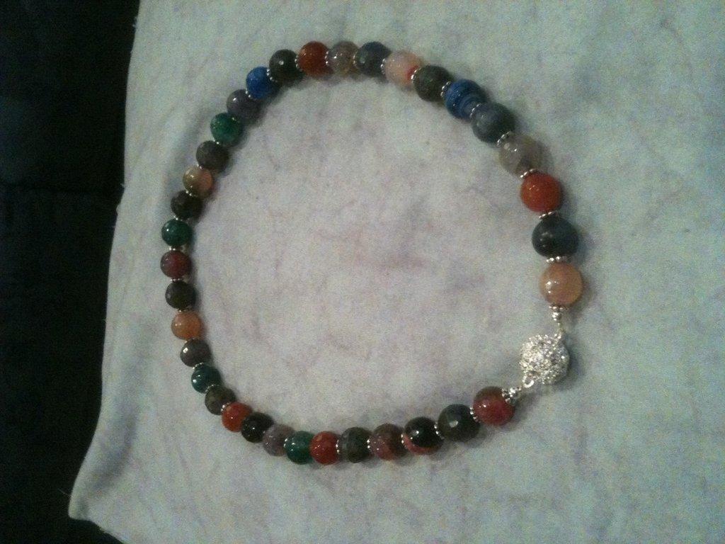 Collana agata multicolori