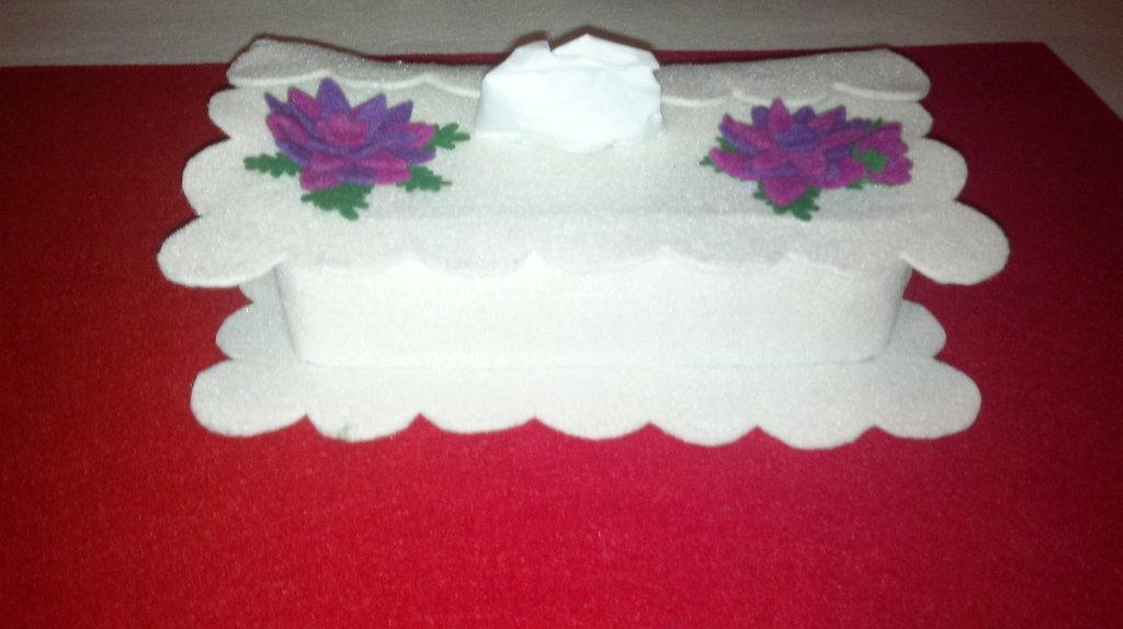 Porta kleenex in feltro