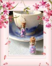 Orecchini boccette e marshmallow in fimo