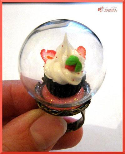 Anello-sfera con ♥Strawberries Cupcake♥