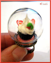 Anello-sfera con ♥Strawberries Cupcake♥
