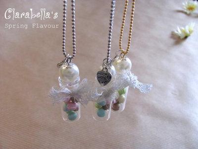 Collana Lunga - Bottiglietta con Macarons
