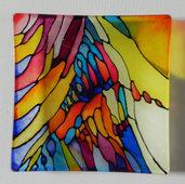 Oggetto in vetro dipinto a mano