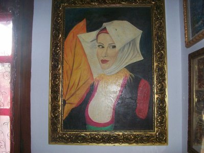 quadro olio donna sarda