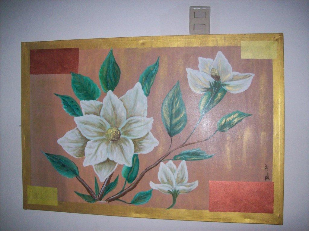 quadro magnolie acrilico