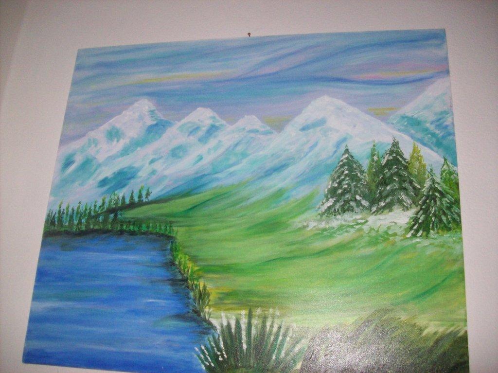 quadro montagne innevate