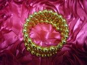 Bracciale  perle oro con filo armonico