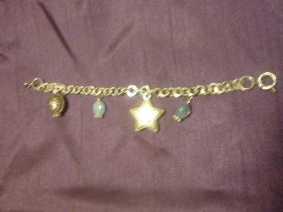 Braccialetto con ciondoli stella in argentone