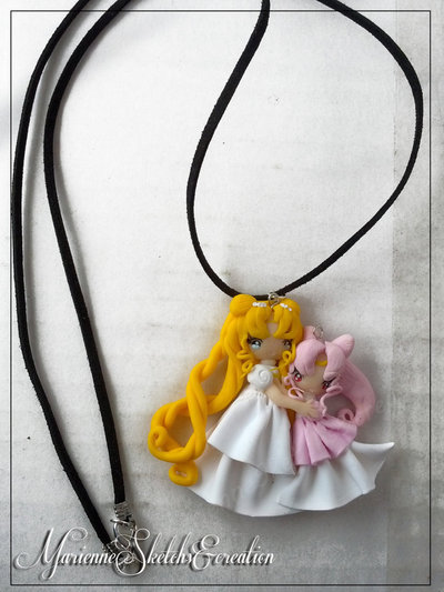 Collana Serenity Chibiusa Handmade Fimo