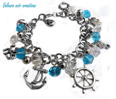 bracciale multi charms mare estate