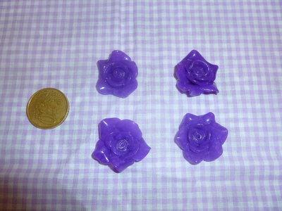 rose viola di fimo