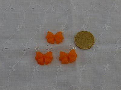 Ciondoli fiocchi arancioni