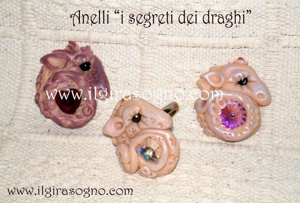 anello drago e swarovski