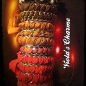 Bracciale fettuccia e catena nikel free