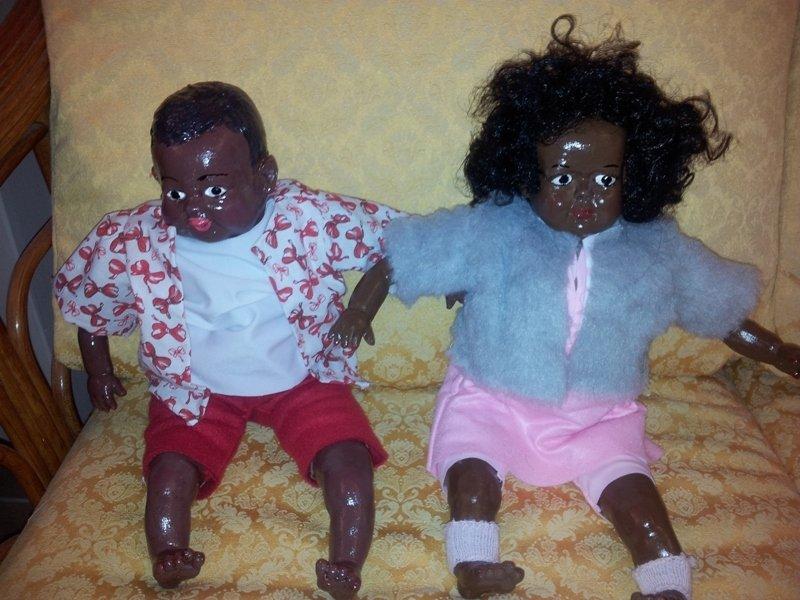 coppia di bambole porcellana